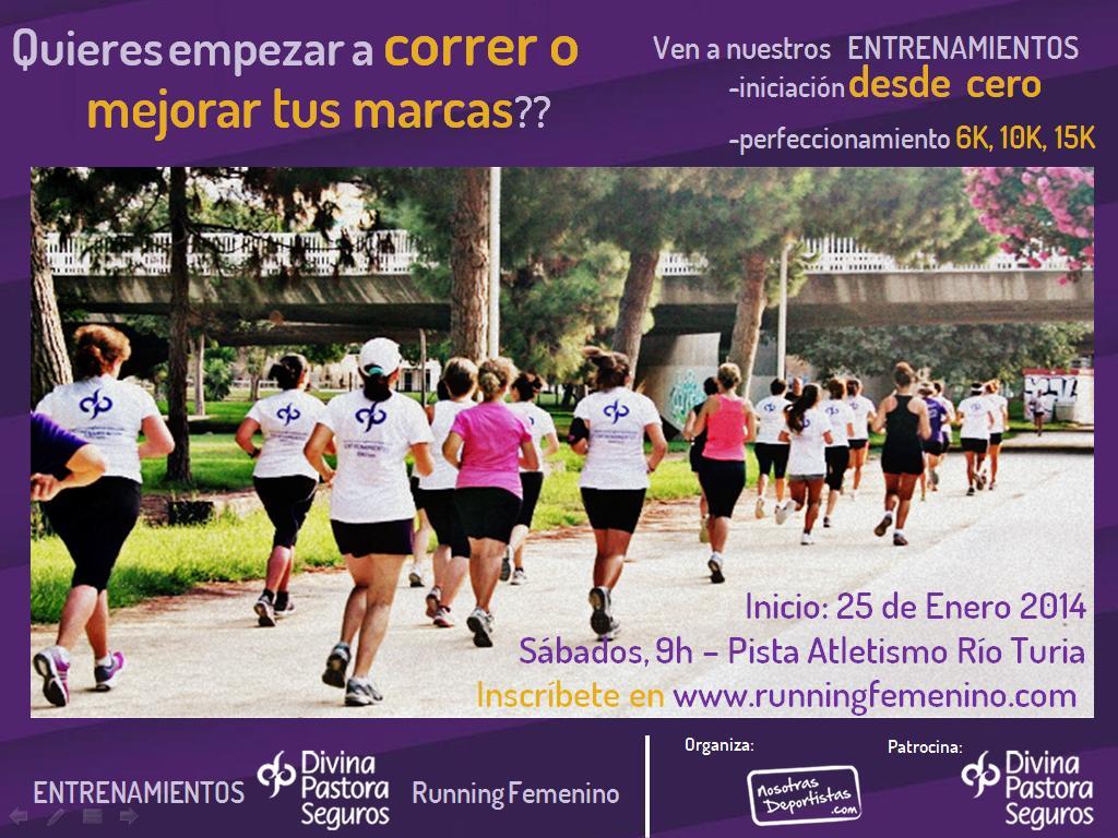 Entranemientos Divina Pastora de Running Femenino