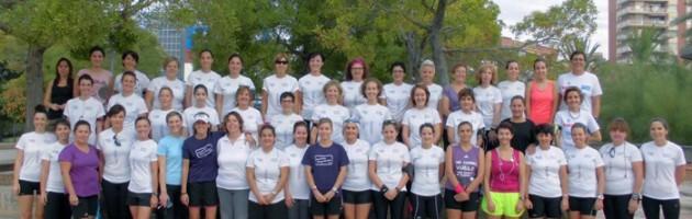 Mas de 50 mujeres deportistas en el entrenamiento de hoy