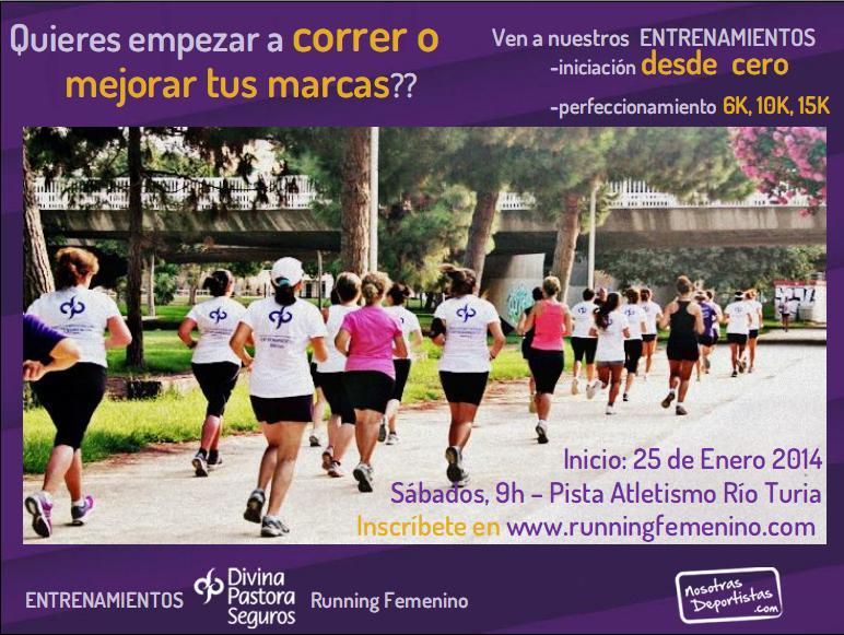 Entrenamientos running femeninon 2014